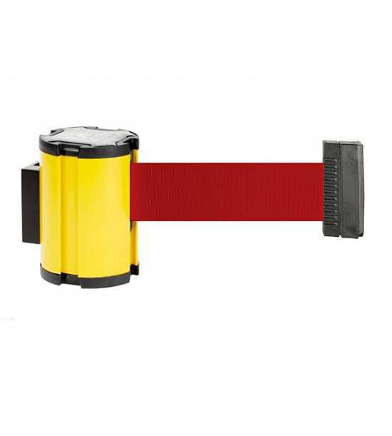 Barrière à sangle rétractable, jaune - BELTRAC SAFETY