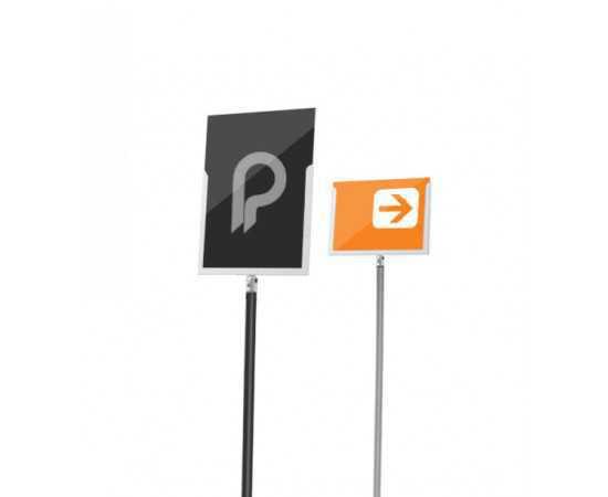 """Porte affiche pour poteau de guidage musée """"Line"""" - A4 portrait ou paysage"""
