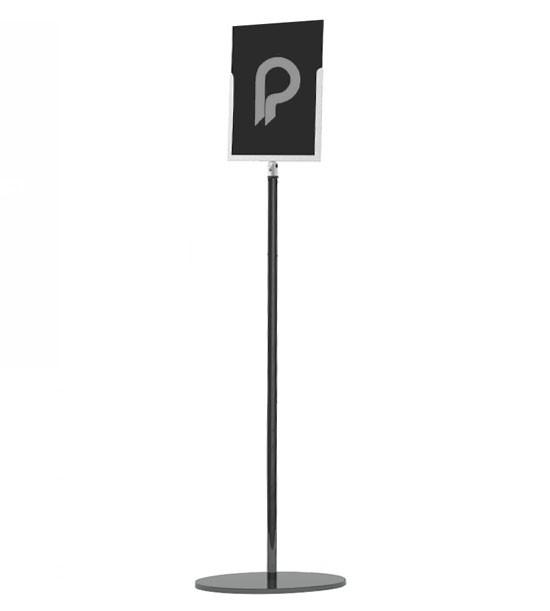 """Porte affiche pour poteau de guidage musée """"Line"""" - A4 portrait ou paysage - Poteau à commander séparément."""