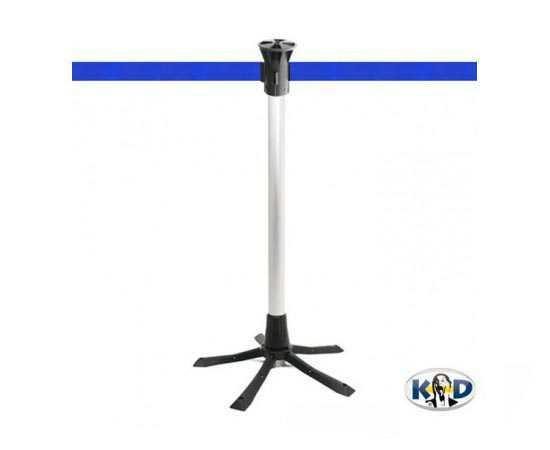 Poteau aluminium, sangle bleue, idéal pour interventions et chantiers