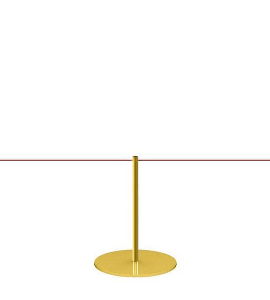 Potelet à cordon élastique (Laiton doré) - Corde fournie séparément