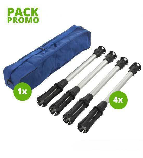1 sac + 4 poteaux de balisage: transport facile!