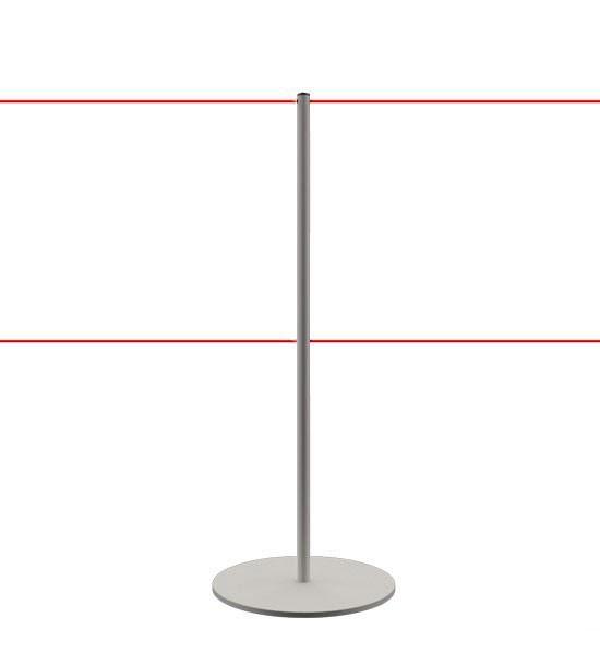 Poteau de délimitation pour musées - Gris argenté (Mat)
