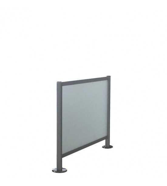Barrière de guidage 100x100cm, verre transparent