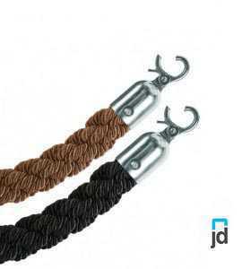 Cordes torsadées à mousqueton verrouillable.