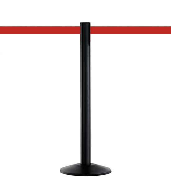 Guide file à sangle 5cm, noir, Extend, sangle rouge 370cm