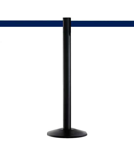 Guide file à sangle 5cm, noir, Extend, sangle bleu foncé 370cm