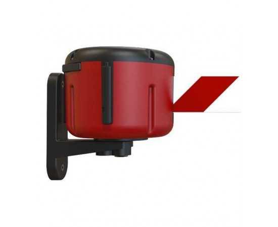 Rote Wandkassette mit Gurtband rot/weiß