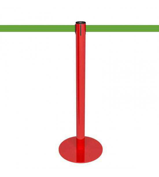 Poteau de guidage rouge, sangle verte