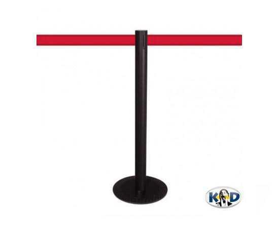 Poteau aluminium MASTER BLACK (KD), sangle rouge