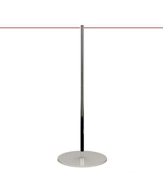 Poteau de guidage pour musées, corde élastique rouge