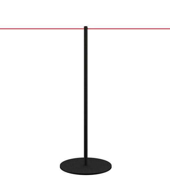 Poteau de balisage à cordon pour musées et galeries d'art