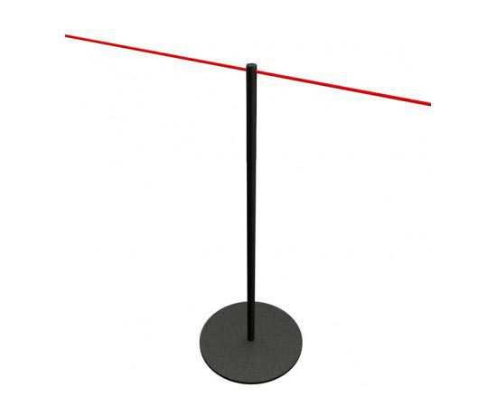 Poteau à corde noir pour musées