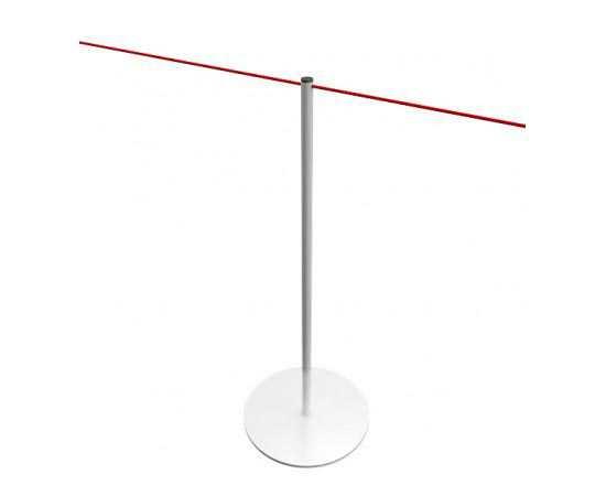 Poteau à corde blanc pour musées