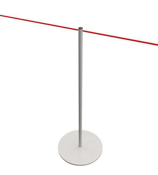 Poteau de balisage à corde pour musées