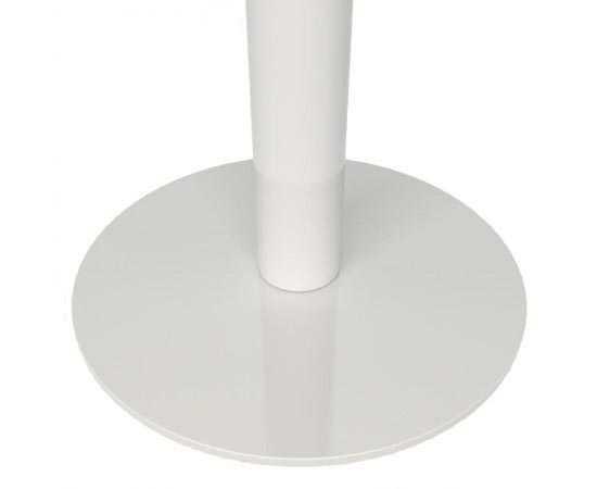 Poteau acier inox blanc laqué