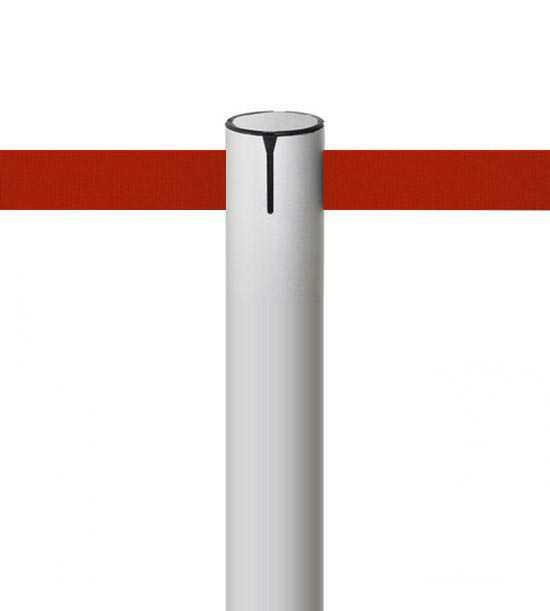 Poteau aluminium tout en finesse, sangle 3cm!