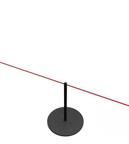 Afzetpaaltje met elastisch touw
