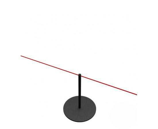 Mini poteau de balisage à cordon élastique