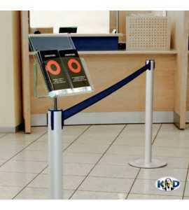 Porte-brochures pour poteau de balisage KD