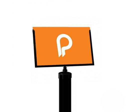 Porte-affiche A4 paysage pour poteaux de balisage Potelet™