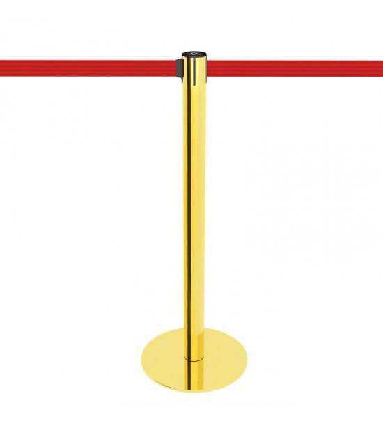 Afzetpaal goud met rood lint