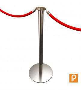Poteau de balisage à corde (Chromé)