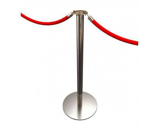 Poteau de balisage à cordon chromé Potelet™ (Cordons à commander séparément)