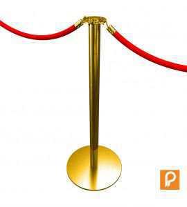 Poteau de balisage à corde (Doré)