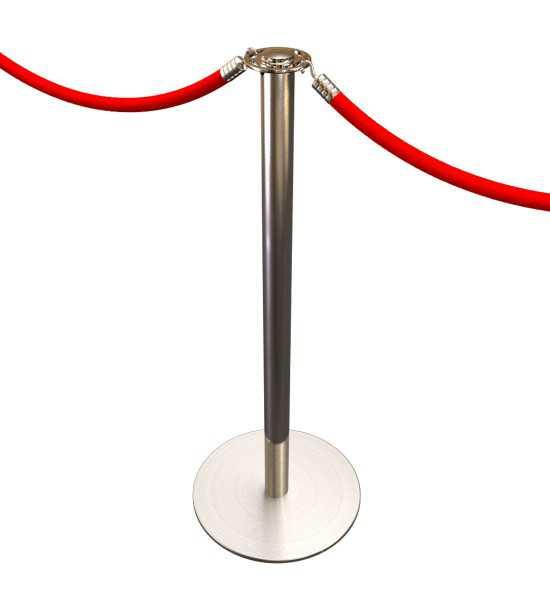 Poteau de guidage haut-de-gamme, cordon rouge pour l'accueil et le guidage des visiteurs.