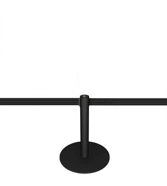Potelet (h 50cm) noir, sangle noire