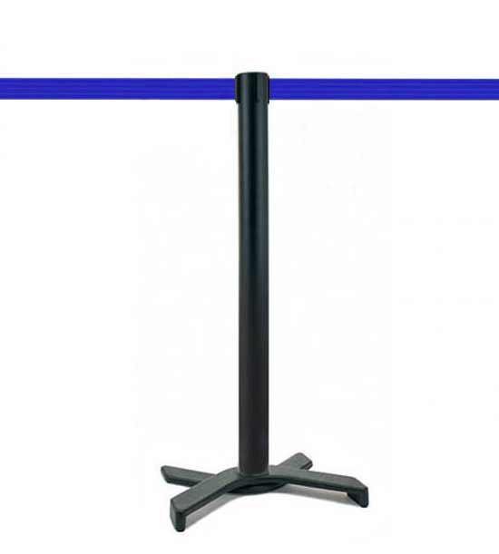 Poteau de guidage (Noir), sangle bleue, socle en X