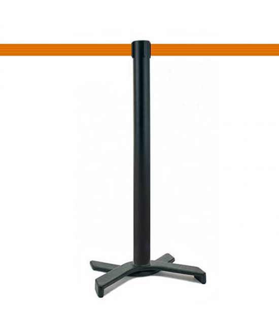 Poteau de guidage (Noir), sangle orange, socle en X