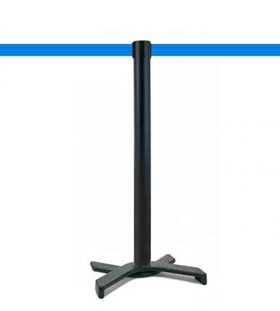 Poteau de guidage (Noir), sangle bleu clair, socle en X