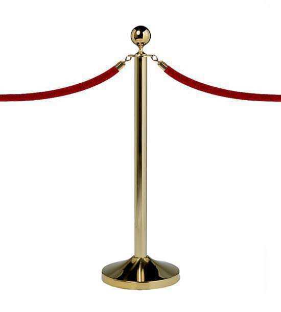 Poteau événementiel, corde velours