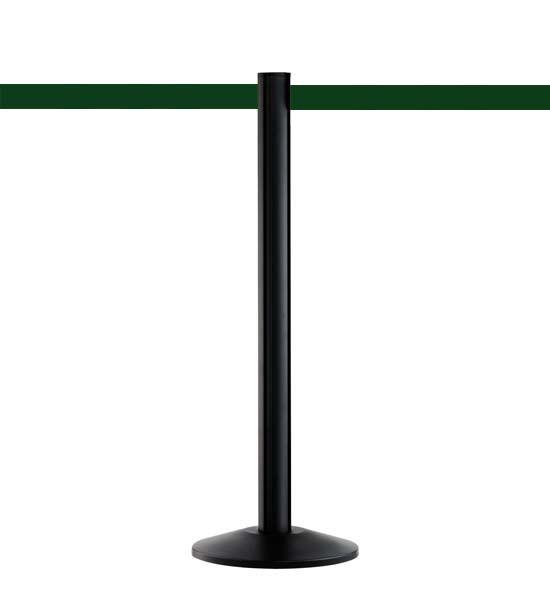 Afzetpaal met band Beltrac™ zwart, groen lint