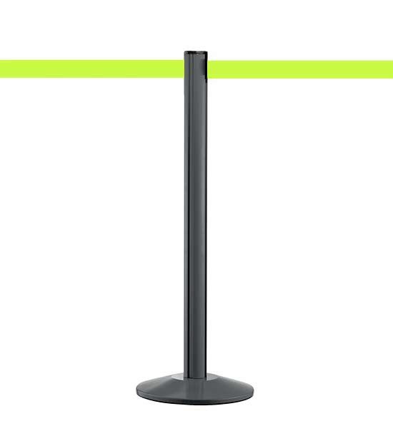 Poteau guide file anthracite Beltrac™ sangle fluo