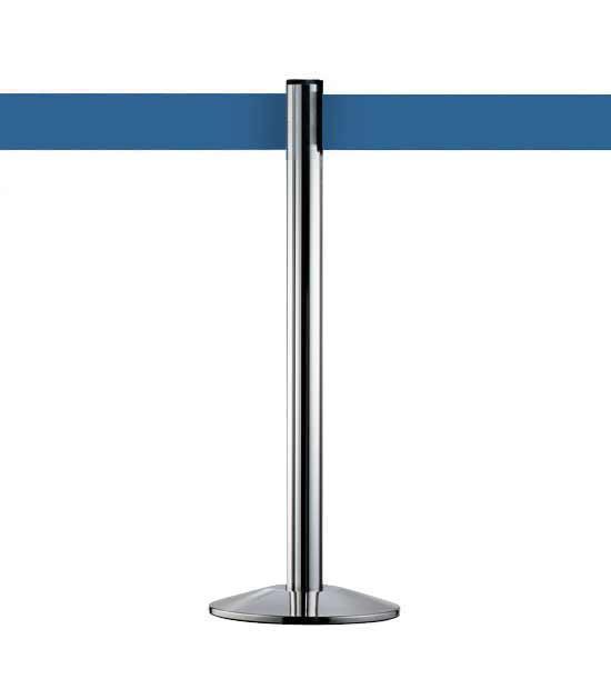 Poteau de balisage avec sangle bleue, BELTRAC