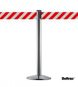 Afzetpaal met 10cm rood/wit band, BELTRAC™