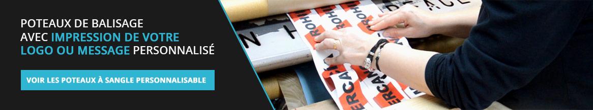 Impression de logos ou message sur la bande du poteau de balisage